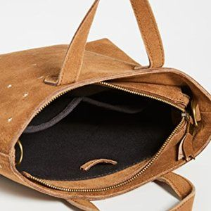 Madewell Bags - Madewell Small Suede Studded Transport Tote NEW